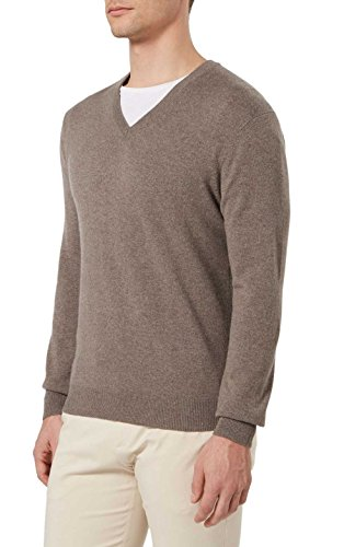 - Bloomingdale's Mens 2-Ply Cashmere V-Neck Sweater XX-Large Toasted Almond