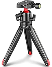 SMALLRIG Tabletop Tripod, Mini Desktop Travel Tripod Aluminum Alloy with 360 Degree Ball Head and Quick Release Plate Lightweight and Portable for Compact Cameras DSLRs, Phone, Gopro(Black)- BUT2287