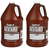 Set of 2 Delta 1 Datatainer Plastic Photographic Chemical 1 Gallon Storage Container bundled by Maven Gifts