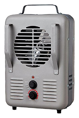 Soleil TFH-203-S Milk House Utility Heater, Gray