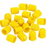 Outus 20 Pack Tyre Valve Dust Caps for Car, Motorbike, Trucks, Bike, Bicycle (Yellow)