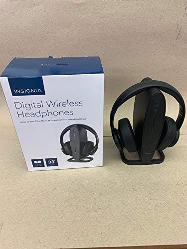 Insignia - NS-HAWHP2 RF Wireless Over-The-Ear Headphones - Black