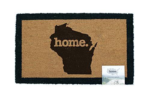 Home State Apparel Wisconsin Home Coir Door Mat