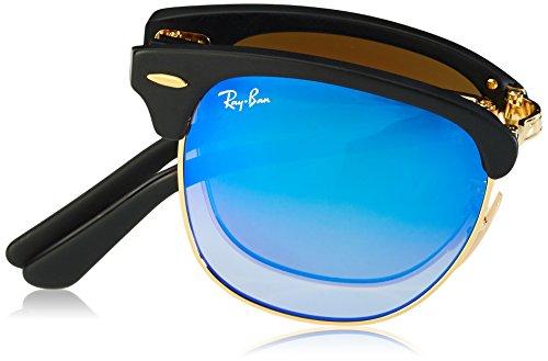 60a2506afe661b ... Ray-Ban Lunettes de soleil Clubmaster pliant en mat noir dégradé Flash  bleu RB2176 901S7Q