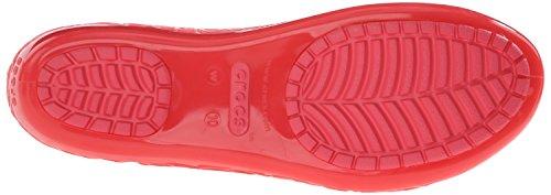 crocs Damen Isabella Jelly Flat Women Geschlossene Ballerinas Rot (Coral)