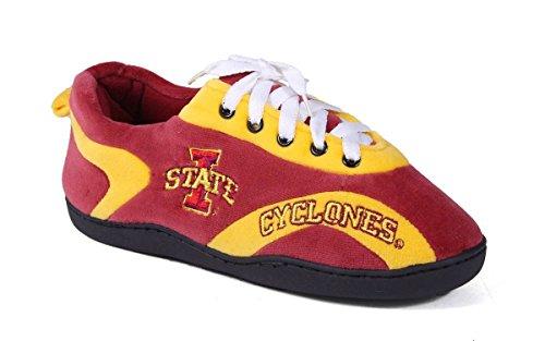 ISU05-1 - Iowa State Cyclones - Small - Happy Feet Mens and Womens All Around Slippers - Iowa State Cyclones Ladies Watch