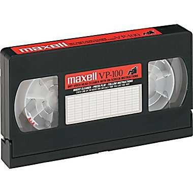Maxell Cleaning VHS Tape Cartridge Camcorder-Compatible Easy-To-Use Safe Good For 100 Uses by Maxell