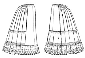 Victorian Lingerie – Underwear, Petticoat, Bloomers, Chemise 1870-1897 Victorian Petticoats Pattern $17.75 AT vintagedancer.com