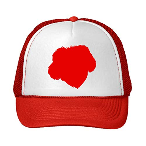 Trucker Hat Chinese Imperial Dog Silhouette Polyester Baseball Mesh Cap Snaps Red/Red One Size ()