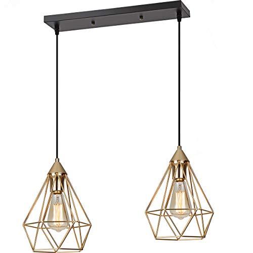 SEEBLEN Champagne Gold Hanging Light Ceiling Lights P006 ()