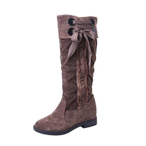 Snow Boots Winter Ankle Boots Women Flat Heel Martin Boots Fashion Women's Boots Khaki