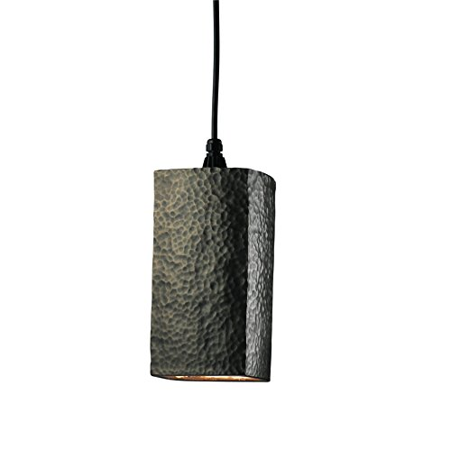 Hammered Brass Pendant Light in US - 8