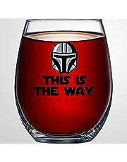 This is The Way Star Wars kristallfritt vinglas, graverat whiskyglas shotglas, perfekt för far mamma pojke eller flickvän vän
