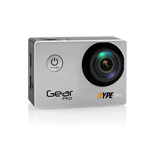 Gear Pro GDV485SL.01 4K 30fps Ultra HD Waterproof Sports Action Camera with Wi-Fi Wireless Connectivity to Smartphone, Fully Submergible Case, Silver