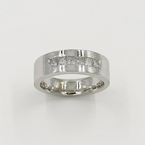 Men's Wedding Band Channel Set Ring/Men Wedding & Anniversary Diamond Band/Milgrain Detailing Frames the Diamonds/14k Solid Gold Ring