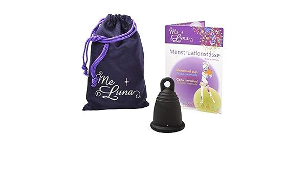 MeLuna Copa menstrual MeLuna Negra, Classic, Anillo-: Amazon ...
