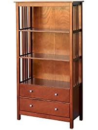 donnieannie company hollydale bookcase with 2 drawers large