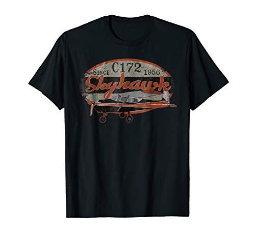 Pilot Training Airplane (C172 Skyhawk Vintage Retro Airplane Flying Pilot T-shirt)