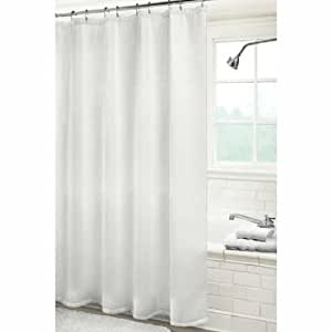 hotel collection white waffle weave shower curtain home kitchen. Black Bedroom Furniture Sets. Home Design Ideas