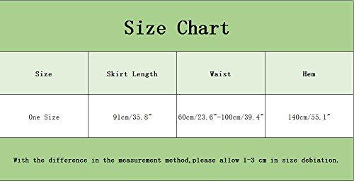 vase Longue Mesdames YouPue Taille Bohmienne Plisse Unique Casual Noir Jupe Jupe Jupe Taille Haute vxFtFB