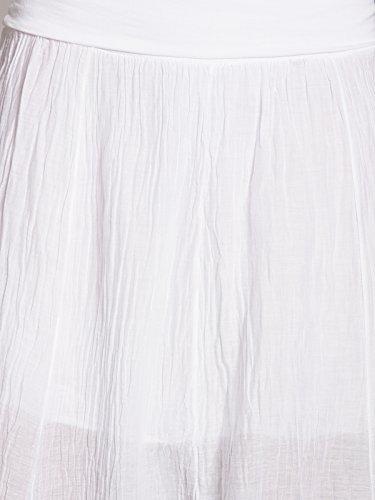 pour CASPAR femme Jupe Blanc RO002 qgg8wECO