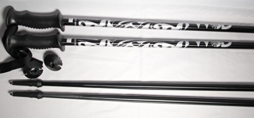 WSD Ski poles adult 2016 model Aluminum black/silver Alpine Downhill Ski Poles pair New