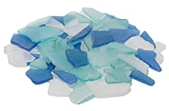 Nautical Crush Trading Premium Cobalt Blue Aqua and Frosted White Sea Glass Mix is perfect for adding that coastal or tropical look and feel to your home decor, beach themed wedding or nautical themed party. Why Purchase Nautical Crush Tradin...