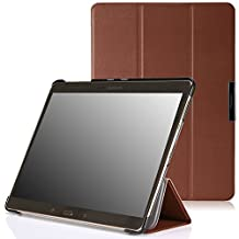 MoKo Samsung Galaxy Tab S 10.5 Case - Ultra Slim Lightweight Smart-shell Stand Case for Samsung Galaxy Tab S 10.5 Inch Android Tablet, COFFEE (With Smart Cover Auto Wake / Sleep)