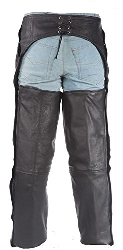 Womens Leather Motorcycle Chaps with Removable Liner 6XL