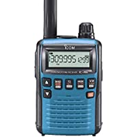 Icom R6 Sport Wide Band Handheld Communications Receiver, Requires 2 x AA Batteries, Blue