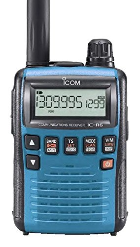 Icom R6 Sport Wide Band Handheld Communications Receiver, Requires 2 x AA Batteries, Blue by Icom (Image #2)