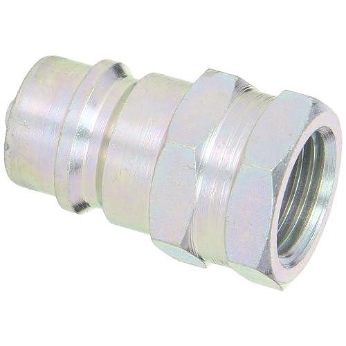 "Dixon Valve K4F4 Steel ISO-A Interchange Hydraulic Fitting, Nipple, 1/2"" Coupling x 1/2"" - 14 NPTF Female Thread"