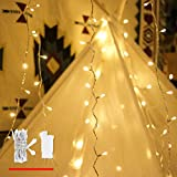 good looking mantel decoration ideas LED String Lights, by myCozyLite, Plug in String Lights, 49Ft 100 LED Warm White Lights with Timer, Waterproof, Perfect for Indoor and Outdoor use with 30V Low Voltage Transformer, Extendable
