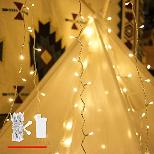 LED String Lights, by myCozyLite, Plug in String Lights, 49Ft 100 LED Warm White Lights with Timer, Waterproof, Perfect for Indoor and Outdoor use with 30V Low Voltage Transformer, Extendable (White Warm Led String Lights)