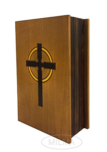 Wooden Bible Box - Bible Book Box Polish Handmade Linden Wood Bible Book Box Holder
