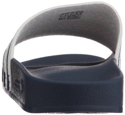 Adidas Menns Adilette Syntetiske Sandaler Hvit / Blå
