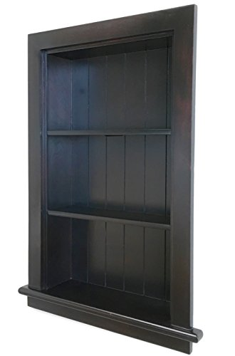 14x24 Dark Brown Recessed Aiden Wall Niche Fox Hollow Furnishings - (Also Available in White, Gray Unfinished)