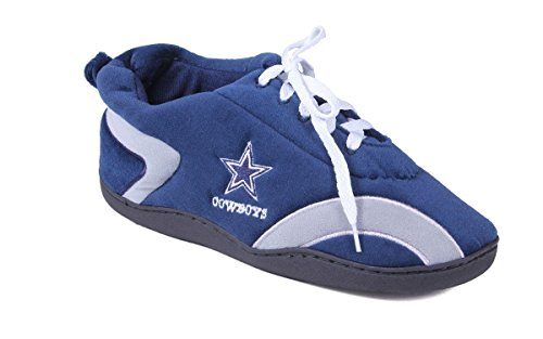 - DAL05-4 - Dallas Cowboys - X Large - Happy Feet Mens and Womens All Around Slippers