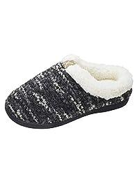 NewYouDirect Slippers for Women Men Cozy Memory Foam Plush Fleece House Shoes Furry Wool-Like w/Indoor Outdoor