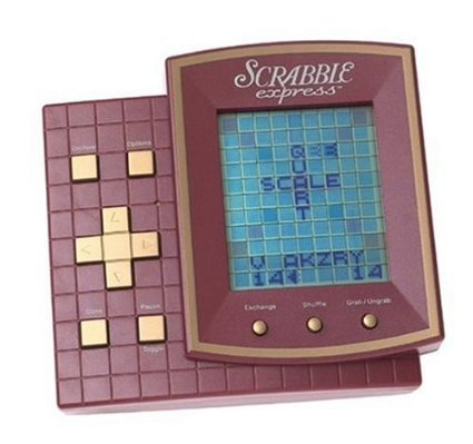 SCRABBLE EXPRESS Electronic Handheld Game (1999 Edition/Includes Instructions)