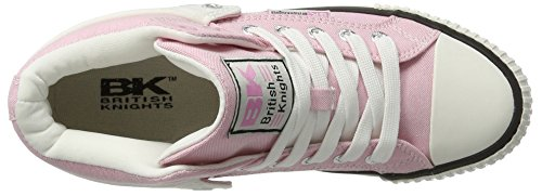 Kvinners British myk Sneakers Lav Knights top Roco Rosa Pink PaxqEFw46a