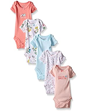 Baby Girls' 5 Pack Floral Bodysuits (Baby)