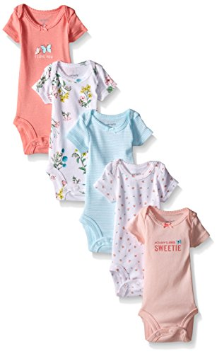 Price comparison product image Carter's Baby Girls' 5 Pack Floral Bodysuits (Baby) - Pink - 9M