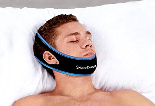 Image of SnoreShieldTM Adjustable Anti Snoring Chin Strap - Snore Stopper Sleep