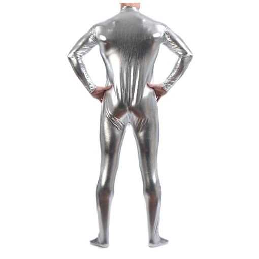 Seeksmile Unisex Metallic Bodysuit Zentai Without Hood