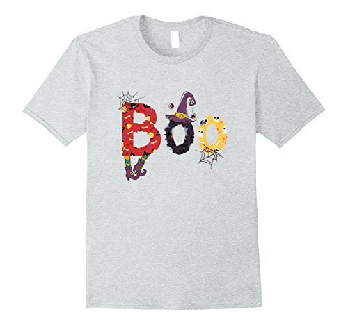Mens Scary Cute Halloween Boo Witch Work Appropriate Costume Tee Large Heather (Work Appropriate Costumes)