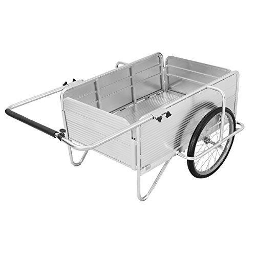 Giantex Folding Utility Cart Garden Trolley Tool Cart Heavy Duty Aluminum Alloy Fold-It Yard Cart (Silver)