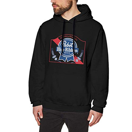 NJAAN Men's Fashion Hoodie Pabst Blue Ribbon Beer Logo, used for sale  Delivered anywhere in Canada