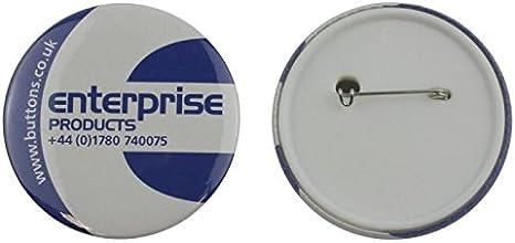 Enterprise Products - Set de piezas para hacer 250 chapas con trasera de seguridad - 58mm