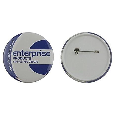 Set de piezas para hacer 250 chapas con trasera de seguridad Enterprise Products 25mm